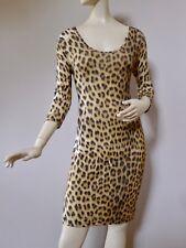 Just Cavalli L / M Nes Leopard Print Stetch Dress Italy