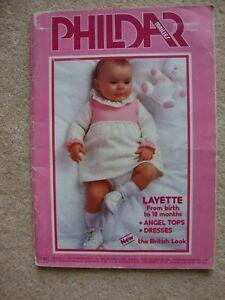 Vintage PHILDAR Mailles No 64- Baby Knitting Book Magazine - 66 designs