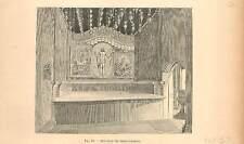 Église du Saint-Sépulcre Agia Anastasis Jérusalem Palestine Empire GRAVURE 1894