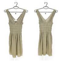 Womens Isabel Marant Etoile Dress Cotton Fit & Flare Green Sleeveless Size 1 / S
