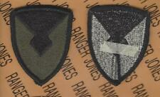 US Army Material Command AMC OD Green & Black BDU uniform patch m/e