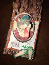 NIB Moose Creek Crossing When You Hear the Call Go Wild Wolf with Fish Ornament