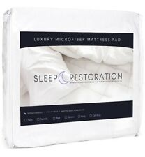 Twin | Sleep Restoration Mattress Pad Cover Luxurious Quilted Plush Microfiber
