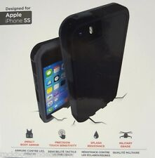 iPhone 5 5S Zagg Arsenal Case InvisibleShield Extreme Screen Protector Black
