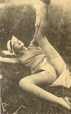 ND 35 # Ak Reprint Repro Pin-up girl nude nus nudo Nylon stockings Strümpfe Akt