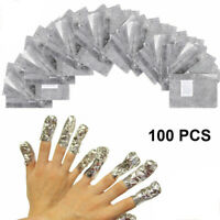 100Pcs/lot Aluminium Foil Nail Art Soak off Gel Polish Manicure Wraps Remover