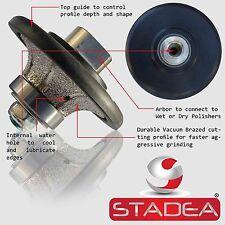 "STADEA Diamond Profile Wheel 9/16"" Demi Radius Bullnose Granite Marble Concrete"