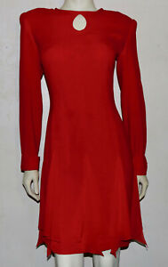 BILL BLASS vintage red dress 6 damage