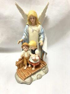 New 1995 HOMCO Home Interior #8772 Guardian Angel Angel Over Boy Girl Figurine