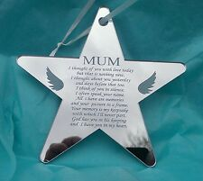 Miss You Mum Laser Engraved Star Memorial Plaque Sign Reminder Memory