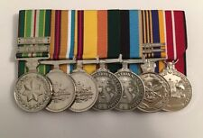 AASM, Afghanistan Medal, IRAQ, AOSM, ADM. Replica, Court Mounted Set Of Medals