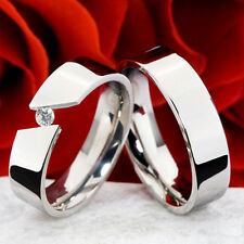 Partnerringe Verlobungsringe Eheringe Poliert mit Zirkonia Ring Gravur P50