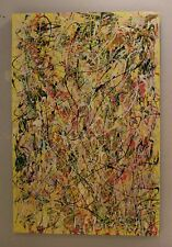 24 x 36 Original Modern Abstract Expressionism Drip Painting - by Carmen Rowe