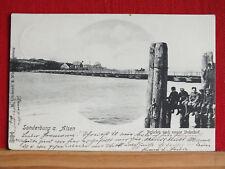 Fotokarte - Sonderburg auf Alsen - Brücke + neuer Bahnhof - gel. 1902    m1