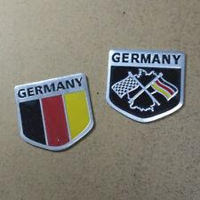 2PCS Small Germany Map Metal Emblem Sticker Badge Decal Motor 3D Car Performance