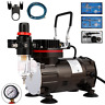 VIVOHOME Airbrush Compressor Kit Dual-Action Paint Spray Gun Air Brush DIY Craft