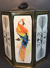 Peek Frean Octagon Bird Metal Tin Macaw Crane Flamingo Pheasant London England