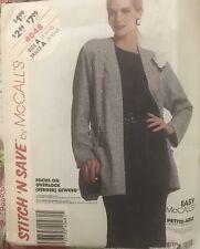 Vtg McCall's Stitch 'N Save pattern 4048 Misses' Knit Jacket & Dress  sz 8,10,12