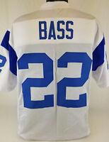 Dick Bass Unsigned Custom Sewn White Football Jersey Size - L, XL, 2XL