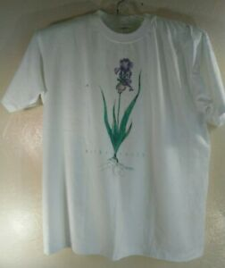 Northern Reflections white t-shirts Mother Earth Floral Xlarge Canada made nwt