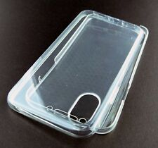 CLEAR TRANSPARENT FRONT + BACK FULL COVER THIN SOFT COVER SKIN APPLE IPHONE X