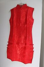 Chinese Hot Red Mini Dress, Qi Pao, wedding, party, Size 8 FITS TIGHT *Brand New