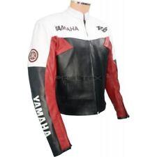 Giacche grigi in pelle con protezione rimovibile per motociclista