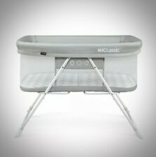 MiClassic 2in1 Rocking Bassinet One-second Fold Travel Crib Portable,Gray Sealed