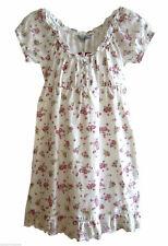 Clockhouse romantisches Kleid  Minikleid  Gr XS 32 34  creme weiß mit Rosen  neu