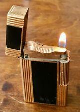 Vtge S.T.Dupont lighter ligne Essence Model Windsor 50s. Golden & laque. Working