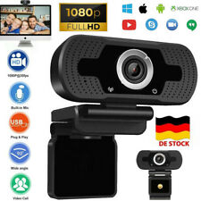Webcam Full HD 1080P Kamera USB HiFi Mikrofon Camera für Skype FaceTime PC DE