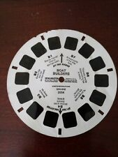"""""""Disney Boat Builders"""" Viewmaster #3054. Donald, Mickey & Goofy. Used condition."""