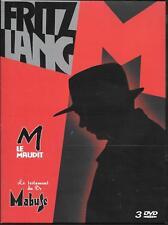 COFFRET 3 DVD ZONE COLLECTOR--M LE MAUDIT + LE TESTAMENT DU DR. MABUSE + BONUS