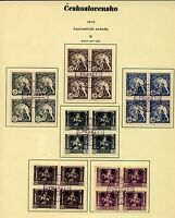 Czechoslovakia 1919 Legion issue 15h to 120h in blocks of four with speci Stamps