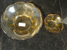 Amber Glass 2 Piece Chip And Dip Set