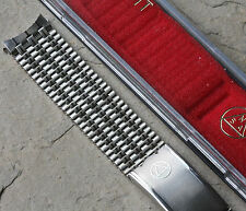 Vintage watch NSA band 18mm curved ends long clasp steel ribbon links 1960s/70s