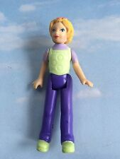 FISHER PRICE SWEET STREETS REPLACEMENT BLONDE MOM LADY PURPLE SLACKS FIGURE