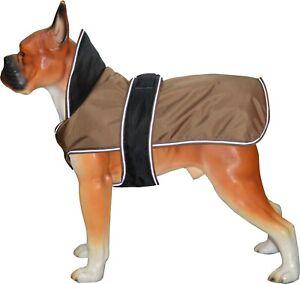 Puppy Dog Coat Jacket Winter Waterproof Pet Clothing Vest Pug Light Brown