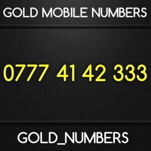 EASY NUMBER GOLDEN NUMBER GOLD SIM VIP MOBILE PHONE NUMBER 07774142333