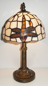 Dragonfly Brown Tiffany Table Lamp Small PM5002TL