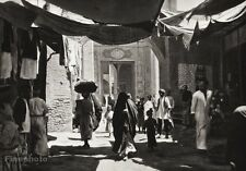 1934 Vintage 11x14 IRAQ ~ Baghdad Market Square Shop People Cityscape Photo Art