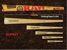 """RAW """"RAWket"""" FIVE CONE KIT Rolling Papers - NEW Assorted SIZES PRE ROLLED CONES"""