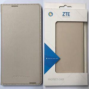 ZTE Axon Mini Flip Case Light Cover - Beige Color ZTE Original OEM Product