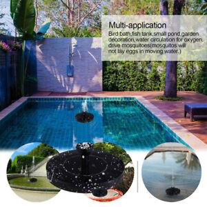 Solar Power Pump, Bird Bath Fountain Water Floating Pond Garden Patio Decor