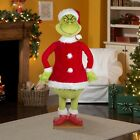 Same Day Ship Christmas Santa 5.74 Ft Tall Life Size Animated Grinch Prop Speaks