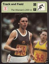 THE WOMEN'S 200m Marita Koch Photo Track & Field 1979 SPORTSCASTER CARD 87-03