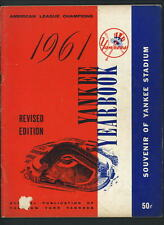 1961 Yankees Official REVISED Yearbook Mickey Mantle Roger Maris Yogi Berra Ford