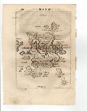 GREECE PIACENZA 1688 MAP OF MILO MILOS