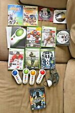 MIXED LOT OF 10 XBOX 360 GAMES With Button Pads & Infared Receiver