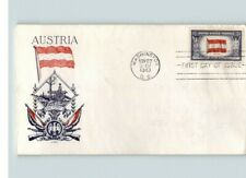 AUSTRIA, Overrun Country in World War II, 1943 First Day of Issue